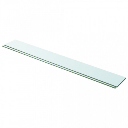 Rafturi, 2 buc., 100 x 12 cm, panouri sticlă transparentă