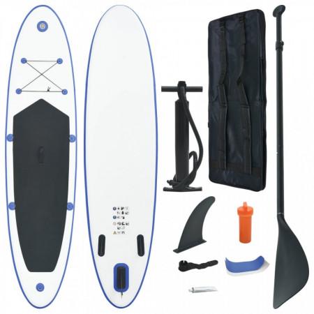 Set placă stand up paddle SUP surf gonflabilă, albastru și alb