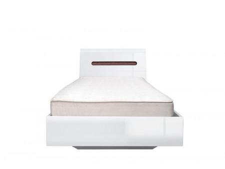 Azteca 022 cadru de pat 90 white/white high gloss