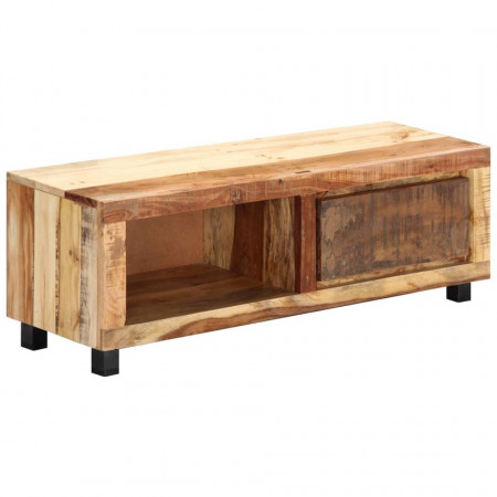 Comodă TV, 100 x 30 x 33 cm, lemn masiv reciclat