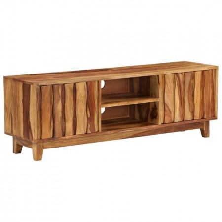 Comodă TV, lemn masiv de sheesham, 118 x 30 x 40 cm