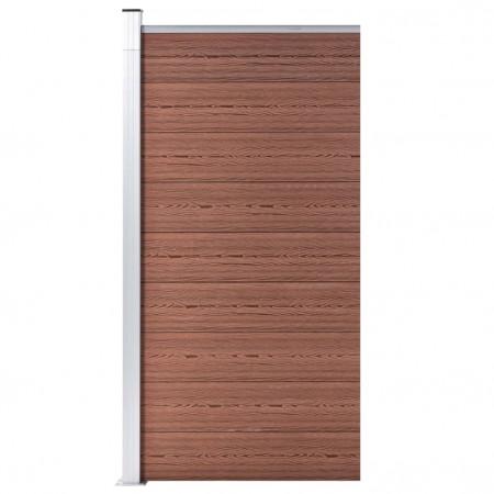Panou de gard, maro, 95x186 cm, WPC