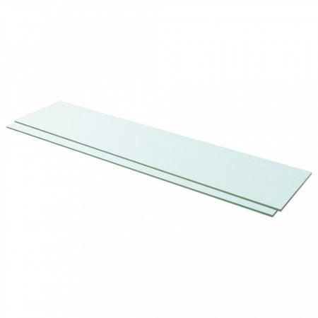Rafturi, 2 buc., 110 x 25 cm, panouri sticlă transparentă