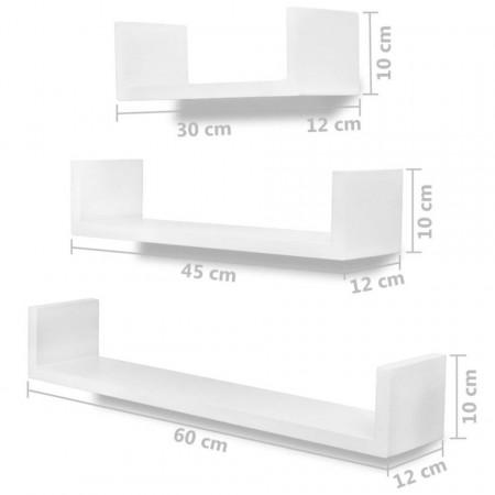 Rafturi de perete, 6 buc., alb