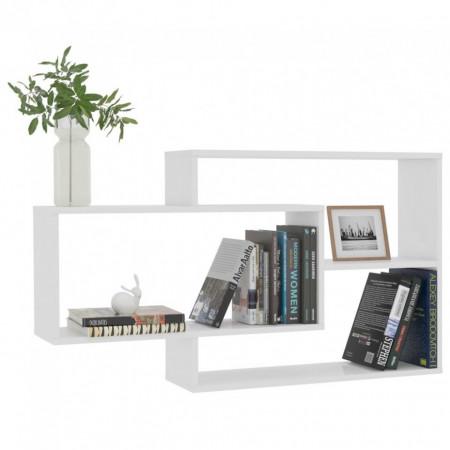 Rafturi de perete, alb foarte lucios, 104 x 24 x 60 cm, PAL
