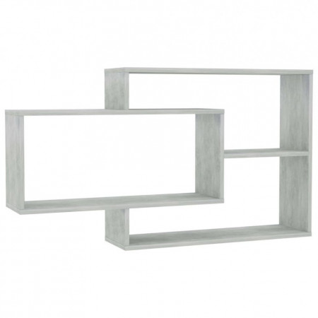 Rafturi de perete, gri beton, 104 x 24 x 60 cm, PAL
