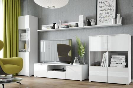 Selene 27 vitrina white high gloss/white