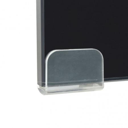 Stativ TV/Suport monitor, sticlă, 40 x 25 x 11 cm, negru