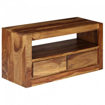 Comodă TV din lemn masiv de sheesham, 80 x 30 x 40 cm