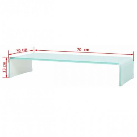 Comodă TV/Suport monitor din sticlă, 70 x 30 x 13 cm