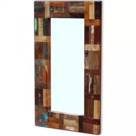 Oglindă din lemn reciclat de esență tare, 80x50 cm