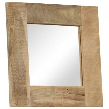 Oglindă, lemn masiv de mango, 50 x 50 cm