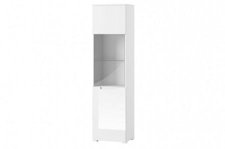 Selene 25 vitrina white high gloss/white