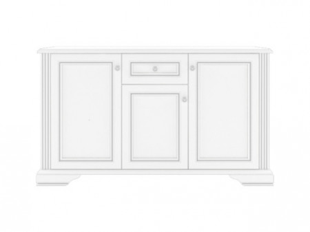 WHITE 009 COMMODE 3D1S SNOWY ASH-TREE/SILVER PINE