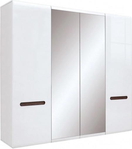 Azteca 019 dulap szf2d2l/21/22 white/white high gloss