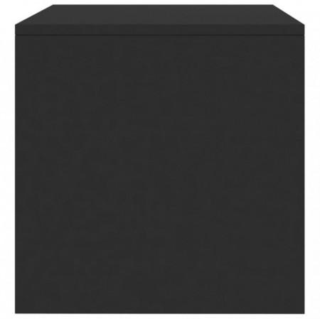 Comodă TV, negru foarte lucios, 100 x 40 x 40 cm, PAL