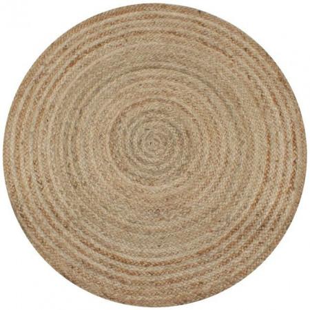 Covor din iută împletită, 90 cm, rotund