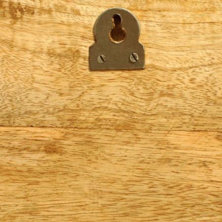 Etajeră din lemn masiv cu montare pe perete, 2 buc