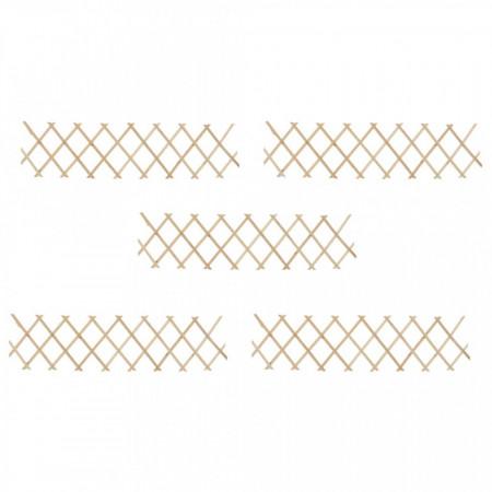 Garduri din spalier, 5 buc., 180 x 30 cm, lemn de brad