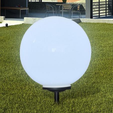 Lampă solară pentru grădină Sferică Lumină LED 50 cm cu Suport ascuţit
