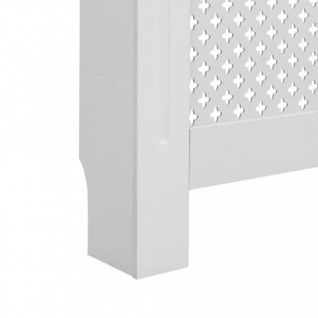 Mască pentru calorifer, alb, 172x19x81,5 cm, MDF