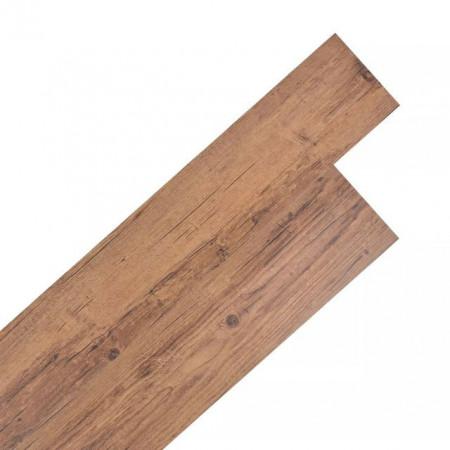 Plăci de pardoseală autoadezive, nuc maro, 5,02 m², 2 mm, PVC