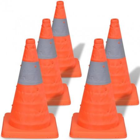 5 Conuri pop-up pentru trafic rutier, 42 cm