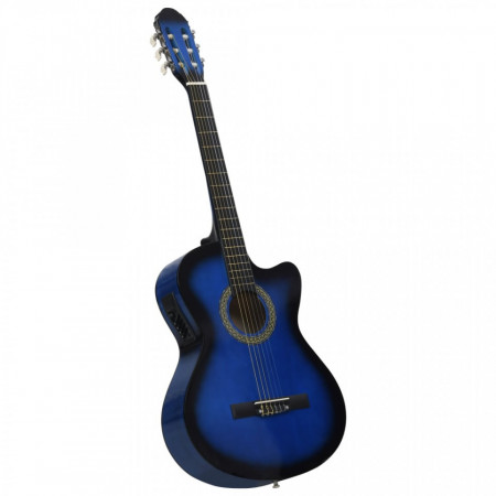 Chitară acustică occidentală cu egalizator, cu 6 corzi albastru