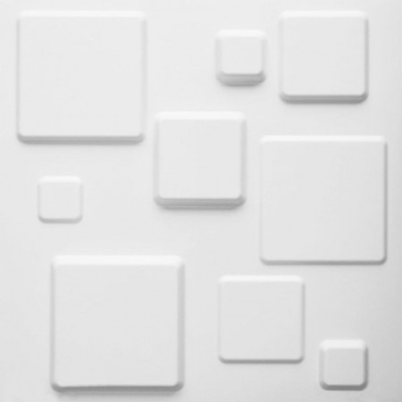 WallArt Lambriuri 3D model Squares, 12 buc. GA-WA09