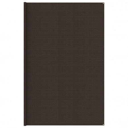 Covor pentru cort, maro, 400x400 cm