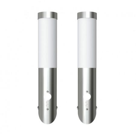 Lampă de exterior din oțel inoxidabil cu senzor de mișcare 2 buc