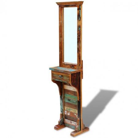 Oglindă pentru hol, lemn reciclat solid, 47 x 23 x 180 cm