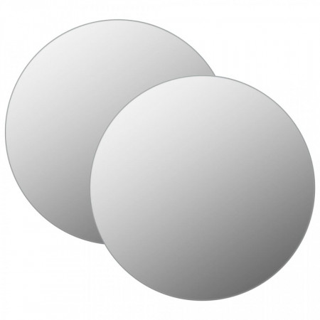 Oglinzi de perete, 2 buc., 70 cm, sticlă, rotund