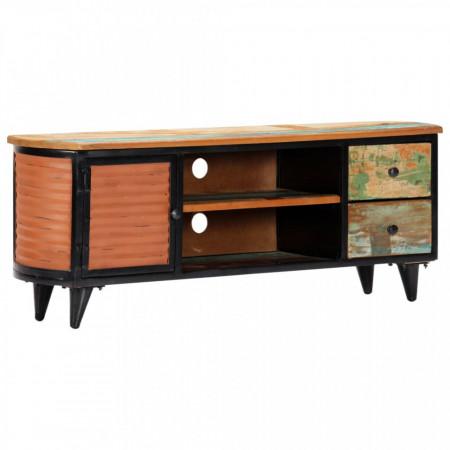 Comodă TV, 120 x 30 x 45 cm, lemn masiv reciclat