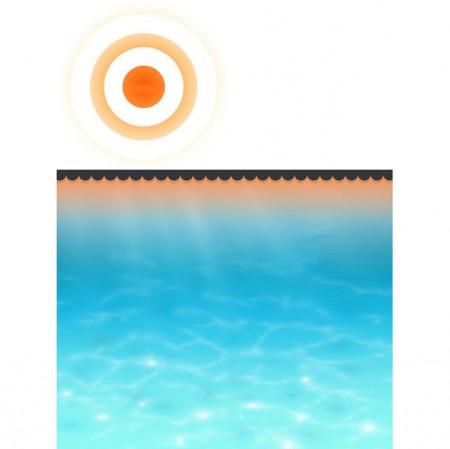 Folie solară pătrată pentru încălzirea apei din piscină 8 x 5 m, Negru