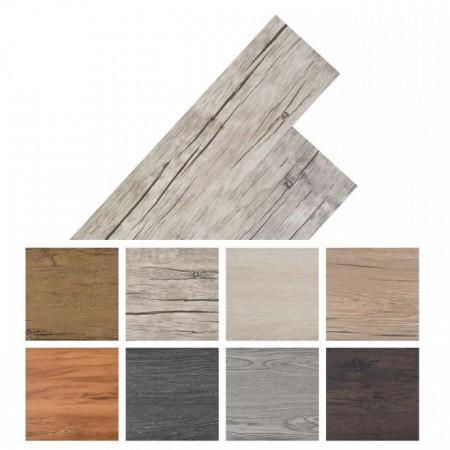 Plăci pardoseală autoadezive stejar decolorat 5,02 m², 2 mm PVC