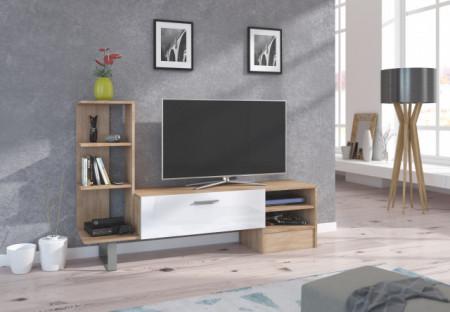 YORK TV STAND S.BRIGHT/WHITE HIGH GLOSS
