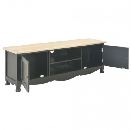 Comodă TV, negru, 120 x 30 x 40 cm, lemn