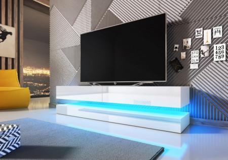Fly Tv Stand White Mat/White Super High Gloss