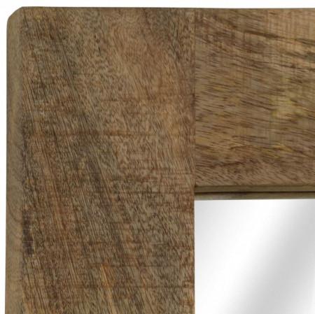 Oglindă, lemn masiv de mango, 50 x 80 cm
