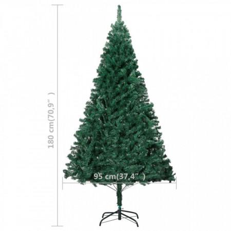Pom de Crăciun artificial cu ramuri groase, verde, 180 cm, PVC
