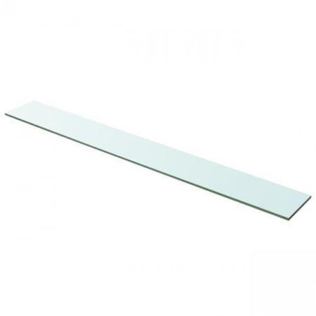 Raft din sticlă transparentă, 100 x 12 cm