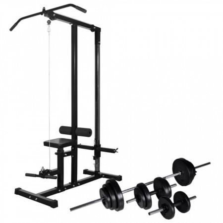 Turn de forță cu set de haltere & gantere 30,5 kg