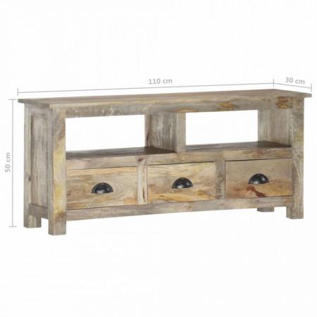 Comodă TV, 110 x 30 x 50 cm, lemn masiv de mango