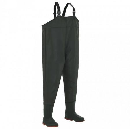Pantaloni de vânătoare cu cizme, verde, mărime 40