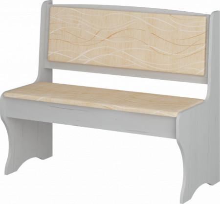 ZKU-02 (kitchen bench) MONACO/CRAFT WHITE