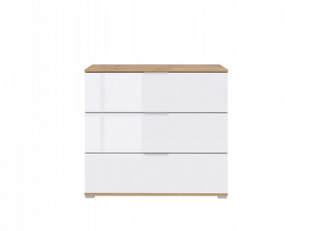 ZLATA 005 COMMODE KOM3S OAK tahoe/WHITE