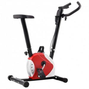 Bicicletă de fitness cu curea de rezistență, roșu