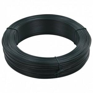 Fir tensionare pentru gard 250 m 2,3/3,8 mm verde închis, oțel