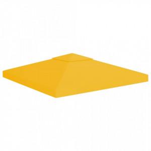 Acoperiș de pavilion cu 2 niveluri, galben, 3 x 3 m, 310 g/m²